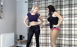Bra &amp_ Panties match (Strip Wrestling)- With insolvency receives Diaper :: Hannah Thompson vs Danielle