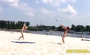 Sweet Teen Nudists Seaside Playtime