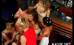 Just sexy girls and chaps having a blast of a sex party