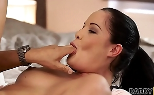 DADDY4K. Dirty cookie allows BF'_s daddy burst out with on her pretty face