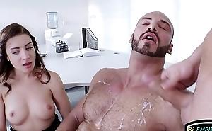 Jizz spraying studs enjoy bi threesomes