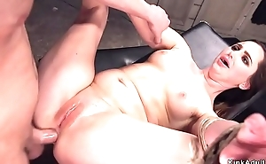 Security dude anal bangs brunette babe