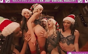VRBangers.com Christams Orgy With Abella Danger And Her 7 Sexy Elves