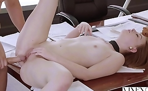 VIXEN Intern Gets Dominated By Her Father'_s Business Gal Friday And Loves It