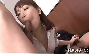 Alluring japanese stimulates her cunt more a sextoy