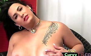 Fat t-girl babe tugging hard cock