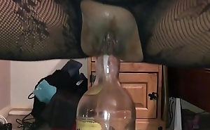 Homemade Girlfriend - Dirty British Milf Filmed Closeup on My i-phone, Squatting on a Huge Bottle Deep upon Her Dirty Arse Hole - II