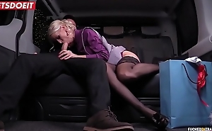 LETSDOEIT - Hot Become man Cheats With Taxi Driver upstairs Christmas Eve