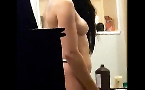 Spying beyond everything Teen GF up Bathroom