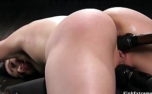 Hot ass brunette pussy fucked in appliance