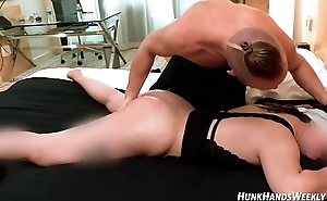 22yo asian fan emails pornstar for massage gets ABUSED.. SQUIRTS! (only time on camera!)