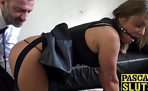 Luscious Sienna Hudson toys pussy via severe banging