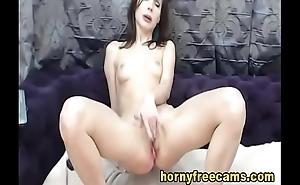 Attractive Petite Brunette Discloses Squirting Pussy