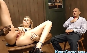 Cuckolding light-complexioned rides
