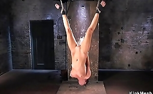 Tied at hand brunette anal fisted approximately donjon