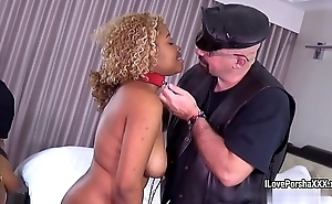 Porsha Carrera and her ebony slave GF BDSM action regarding biker master