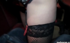 Amateur stripper fucks and grinds in POV at one's disposal the whack