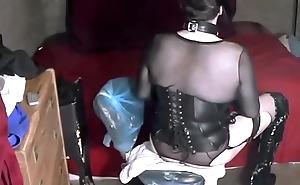 Hot Transgender Floosie Takes Huge Anal Dildo 20m