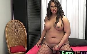 Sexy ebony bbw tgirl gets will not hear of cock away