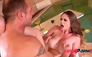 Incredibly busty spa goddess Cathy Firmament titty fucked be advisable for massive spunk flow GP405