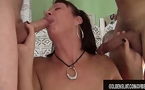 Men Old and Young Take Turns Drilling Of age Old bag Vanessa Videl