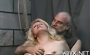Bizarre enslavement video roughly cutie obeying chum around with annoy dirty play